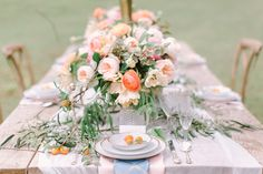 Inspiration Worldwide - Our Theory: Wedding planning should be an experience full of joy and beauty. Top notch vendors and inspiration from around the world. Allen Smith, Mountain Weddings, Farm Wedding, Wedding Trends, Wedding Planning, Table Settings, Wedding Inspiration, Table Decorations, Bridal