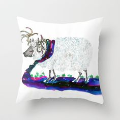Warmth of the night Throw Pillow by bnwu - $20.00