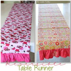 reversible tabel runner