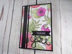 Sketch Sunday - Inside the Lines Handmade Thank You Card with Stampin' Up Watercolour Pencils