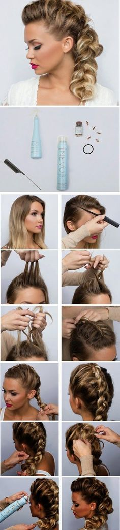 Looking for a cute braided hairstyle for date night? Check out this sweet & sexy Dutch Braid tutorial for a perfect romantic look! # side Braids night Date Night Hair - Sweet & Sexy Side Braid Tutorial Cute Braided Hairstyles, Up Hairstyles, Pretty Hairstyles, Braided Pigtails, Wedding Hairstyles, Simple Hairstyles, Summer Hairstyles, Love Hair, Gorgeous Hair