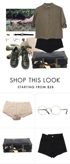 """riverside"" by paper-freckles ❤ liked on Polyvore featuring Fogal, Oliver Peoples, Jaeger and Dr. Martens"