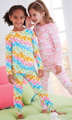 From CWDkids: Girls Ruffle Edge Pajamas.