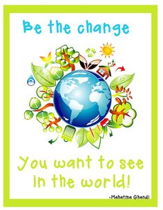 Inspirational 8 1/2 X 11 poster....great for classroom, counselors office, or kids bedroom.  Ghandi Quote
