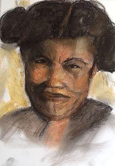 Mallagassy woman. Soft pastel on paper. 32x48 cm