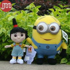 Find More Movies & TV Information about New 2 PCS Minions Agnes Despicable ME 2 Movie 3D Eyes Jorge Stewart Dave Stuffed Plush Doll Anime Brinquedos Kids Toys Gift,High Quality toys retro,China doll Suppliers, Cheap toy baby doll from M&J Toys Global Trading Co.,Ltd on Aliexpress.com