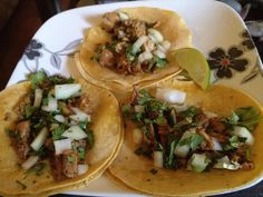 Homemade rabbit tacos- looks so simple yet delicious. maybe indian flavored with some yogurt??