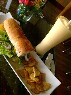 queenie sandwich and mango shake