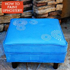 Update your old furniture: How to recover furniture by paining the upholstery!
