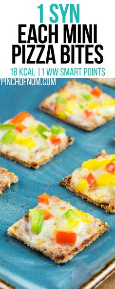 1 Syn Each Mini Pizza Bites | Pinch Of Nom Slimming World Recipes 18 kcal | 1 Syn | 1 Weight Watchers Smart Points