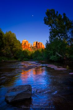 A view of the beautiful Cathedral Rock in Sedona, Arizona. This part of the southwest of the USA features nice sandstone  Formations, canyons and desert. It's a wonderful place for hiking or just admire the vibrant surroundings. Prints available at http://giovanni-allievi.artistwebsites.com/art/all/all/all/american+west  #sedona #cathedral rock #southwest #arizona