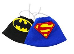 These super adorable, handmade capes are the ultimate accessory to show off your hamster/small pet! The capes are made of soft fleece and are washable. Two designs to choose from: Batman or Superman. Sizes are approximately 4 inches by 5.8 inches but can vary since they are handmade. Favorite