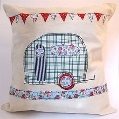 camper pillow. I have this pattern, I might have to do this as a pillow for Clyde. Hadn't thought to do anything but stitch and frame. Hmmm...