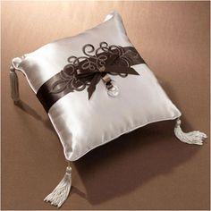 WeddingDepot.com ~ Ring Bearer Pillow - Grand Royalty - Latte ~