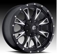 17x9 Fuel Off-Road Throttle Matte Black w/ Machined Accent