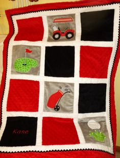 Quilted Golf Wallhanging $42.00 from Picsity.com | Quilting ... : golf quilt patterns - Adamdwight.com