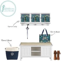 Storage solutions with style ! Initials,inc. Spring 2014                                  www.MyInitials-inc.com/KimBriese