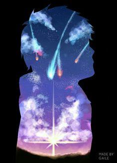 Kimi no na wa Taki Fanarts Anime, Anime Films, Miyazaki, Me Me Me Anime, Anime Love, Mitsuha And Taki, Kimi No Na Wa Wallpaper, Your Name Anime, Couple Wallpaper