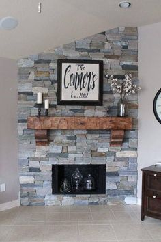 Fireplace Mantel 66 8243 with Corbels Chunky Rustic Hand Hewn Solid Pine 8 by 8 by 5 1 2 Feet Long Fireplace Mantel 66 8243 with Corbels Chunky Rustic Hand Hewn Solid Pine 8 by 8 by 5 1 2 Feet Long Dianemrobbie nbsp hellip Farmhouse Fireplace Mantels, Rustic Fireplaces, Home Fireplace, Fireplace Remodel, Brick Fireplace, Living Room With Fireplace, Fireplace Design, Fireplace Ideas, Corner Fireplaces