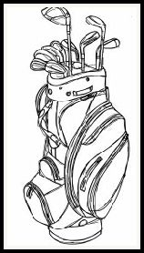 free digital stamp set golf bag masculine