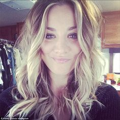 Get a good look! Kaley took a selfie of her fresh spring look prior to her drastic change...