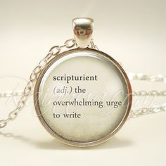 Writers Word Necklace, Inspirational Quote Jewelry, Creative Author Pendant, Gift Idea (1973S1IN) by rainnua on Etsy https://www.etsy.com/listing/231182527/writers-word-necklace-inspirational