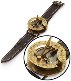Navitron Steampunk Wrist Compass and Sundial. @Laura Weed