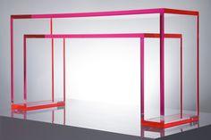 Lucite console by Alexandra Von Furstenberg