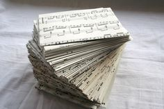 sheet music becomes envelopes! What an amazing idea! http://www.etsy.com/listing/70352962/music-note-envelopes-set-of-100
