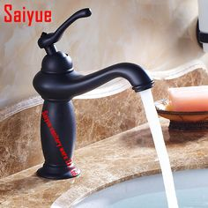 Retro blackend finishing washroom sink faucet mixer tap cold&hot water single hole /handle deck mounted #Affiliate