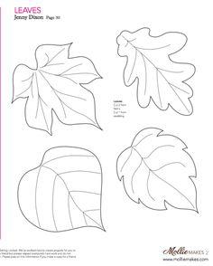 Mollie makes, Felt Leaf Template