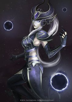 League of Legends: Syndra the Dark Sovereign by XephrosART.deviantart.com on @DeviantArt