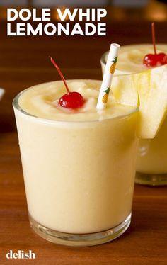 Whip Lemonade Dole Whip Lemonade Is The Summer Treat You NeedDelish. Going to add Coconut rum and make it extra yummy!Dole Whip Lemonade Is The Summer Treat You NeedDelish. Going to add Coconut rum and make it extra yummy! Smoothie Fruit, Smoothie Drinks, Smoothies, Detox Drinks, Alcohol Drink Recipes, Punch Recipes, Summer Drink Recipes, Best Summer Drinks, Frozen Drink Recipes