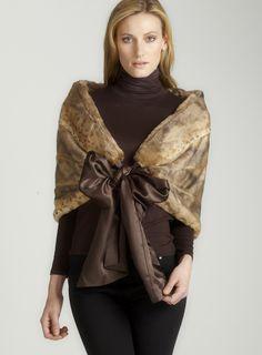 Animal faux fur wrap