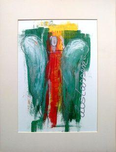 Acrylmalerei - Abstrakter Engel Acrylicmalerei - ORIGINAL- - ein Designerstück von Shirdi bei DaWanda