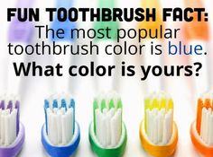 Toothbrush Fact Dr. Marc E. Goldenberg, Dr. Kate M. Pierce, and Dr. Matthew S. Applebaum Pediatric Dental Office Greensboro, NC