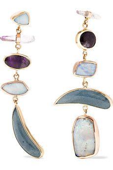 MELISSA JOY MANNING 14-karat gold multi-stone earrings€4,144