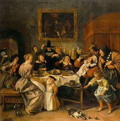 Jan Steen - Twelfth Night