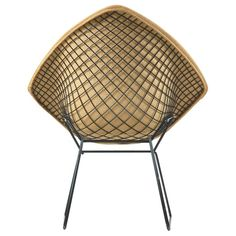 Original 1953 Harry Bertoia Diamond Chair for H. Knoll Products For Sale at Metal Chairs, Cool Chairs, Arm Chairs, Black Chairs, Lounge Chairs, Accent Chairs, Vintage Decor, Vintage Rugs, Harry Bertoia