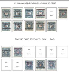 US Bureau Precancels  Playing Card Revenues  ** 32 stamps Stamp Collecting, Stamps, Playing Cards, Ebay, Seals, Playing Card Games, Postage Stamps, Stamp, Game Cards