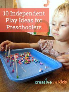 Great for quiet time! 10 Independent Play Activities for Preschoolers