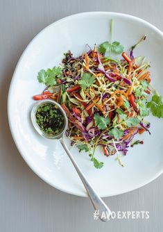 The delicious, crunchy texture of a slaw goes so well with an Asian-style dressing. Westfalia Avocado Oil, fresh coriander, chilli, ginger and soy sauce are the perfect combination of ingredients for a tasty salad dressing. Fresh Coriander, Avocado Oil, In The Flesh, Asian Style, Salad Dressing, Soy Sauce, Tasty, Texture, Fruit
