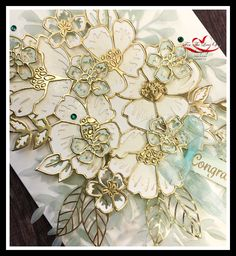 My wedding bouquet card that I created for Ink Stamp Share July blog hop. Wedding Cards Handmade, Handmade Birthday Cards, Handmade Cards, Card Wedding, Wedding Bouquet, Flower Outline, Ink Stamps, Stamping Up Cards, Flower Cards