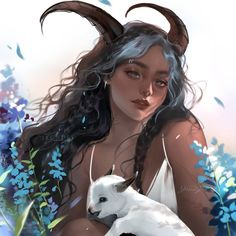 Chinese Zodiac: Goat by Jyundee on DeviantArt Character Inspiration, Character Art, Art Sketches, Art Drawings, Zodiac Characters, Time Painting, Digital Art Girl, Zodiac Art, Chinese Zodiac