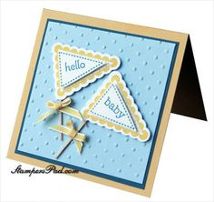 #SU baby card using pennant parade and petite pennant punch