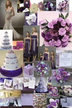 Purple wedding decorations ideas pictures