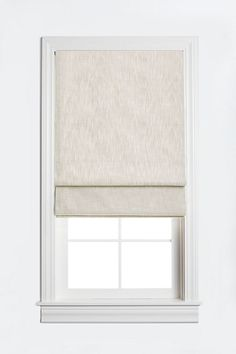 Barn & Willow Lined Flat Roman Shade Linen Roman Shades, Flat Roman Shades, Gypsy Curtains, Blackout Shades, Kitchen Window Treatments, Curtain Designs, Florida Home, Grey Stone, Window Coverings
