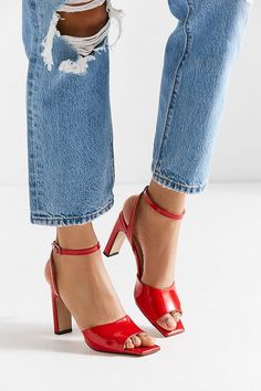 f315afff436 ... Shoes by Urban Outfitters. Slide View  4  Stiù Georgina Peep Toe Heel
