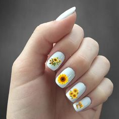 Nail Art Stickers That Don't Look Cheap - Nail art stickers are widely available in the market. For you who look for inspiration to decorate your elegant nails, here are some nail stickers to inspire you. Dragonfly Nail Art, Butterfly Nail, Blue Butterfly, Nail Art Stickers, Nail Decals, Nail Art Flower, Sunflower Nail Art, Local Nail Salons, Bright Summer Acrylic Nails