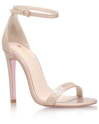 Carvela Kurt Geiger | Gatsby Shimmer Sandal - iridescent python-embossed faux leather with a sky-high stiletto.